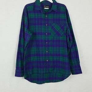 Men's Plaid Long Sleeve Button Down Shirt